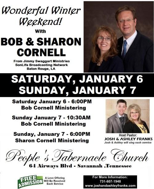"Wonderful Winter Weekend with ""BOB & SHARON CORNELL"""