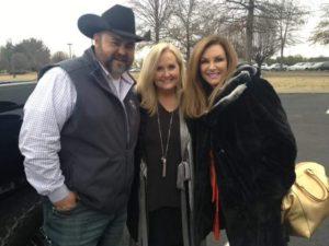 Daryle Singletary with Karen Peck Gooch and Kelly Nelon Clark