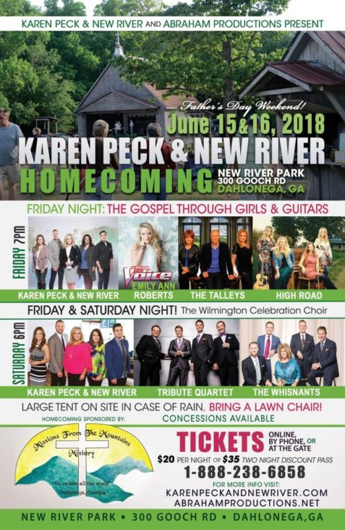 Karen Peck and New River/Abraham Productions Announce Homecoming