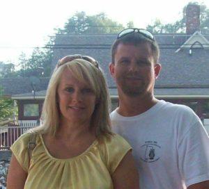 Deborah Peek and husband Chris Peek