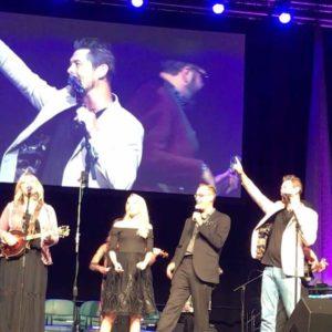 Matt Linton onstage at Gatlinburg Gathering