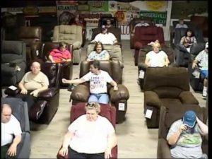 Ogle Furniture crowd enjoying Smoky Mountain Gospel Jubilee