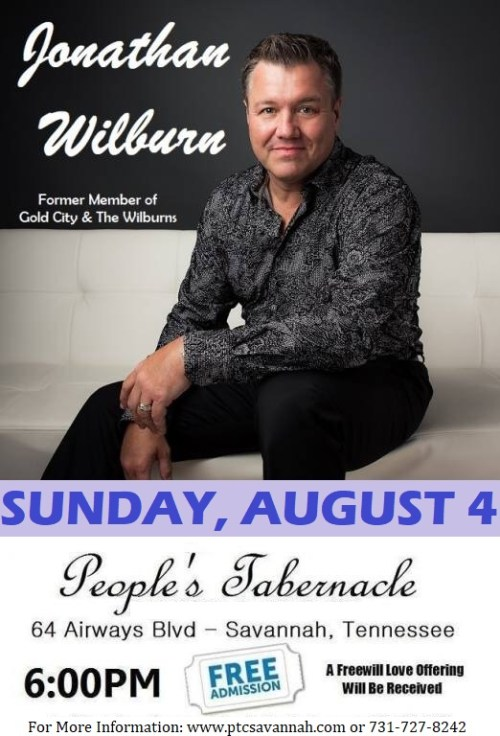 Jonathan Wilburn In Concert August 4