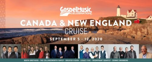 IMC CONCERTS ANNOUNCES GOSPEL MUSIC CELEBRATION CRUISE SAILING TO CANADA & NEW ENGLAND IN 2020