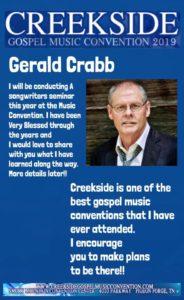Gerald Crabb at Creekside 2019