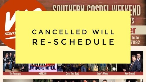 Cancellation of Southern Gospel Weekend 2020