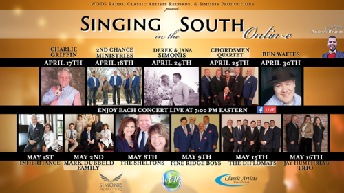 SINGING IN THE SOUTH SHOWCASES FACEBOOK LIVE ONLINE STREAMING CONCERT SERIES