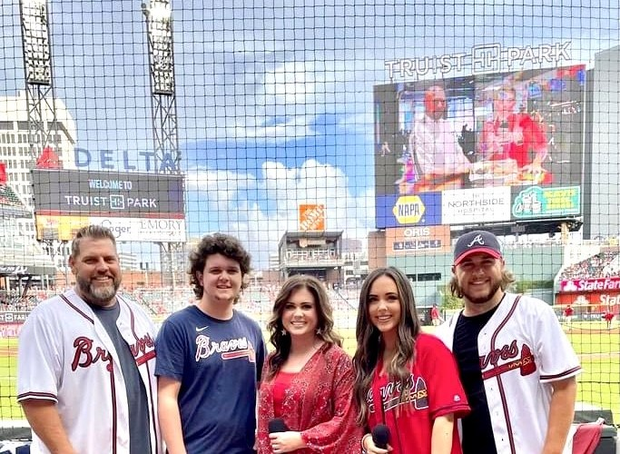 The Jordan Family Band Performed The National Anthem at Truist Park