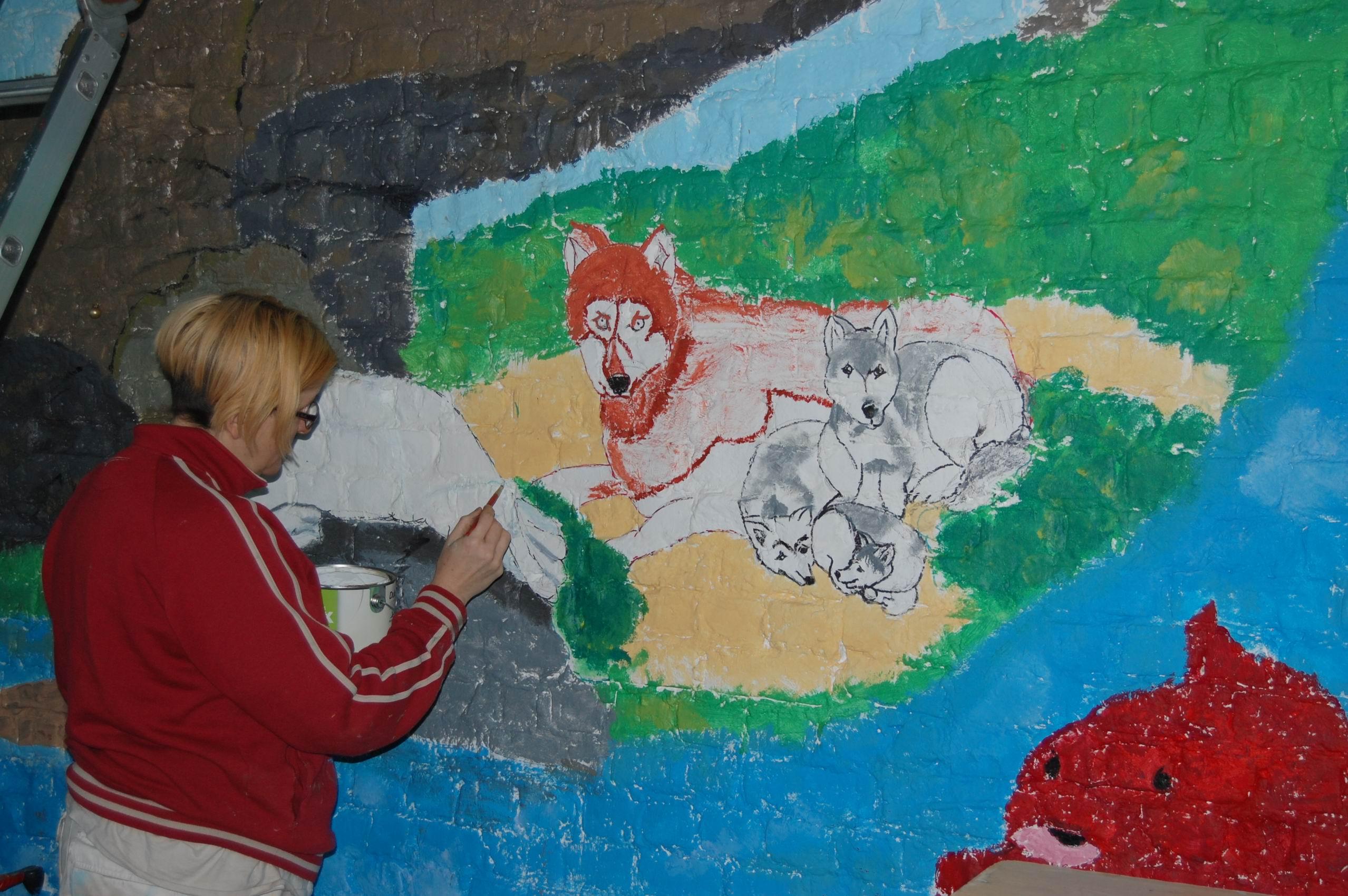 Atelier peinture, fresque