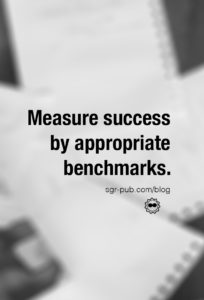 Book marketing questions: Measure success by appropriate benchmarks