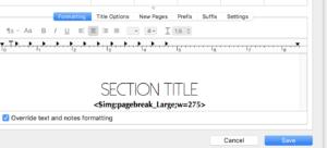 Formatting in Scrivener 3.0