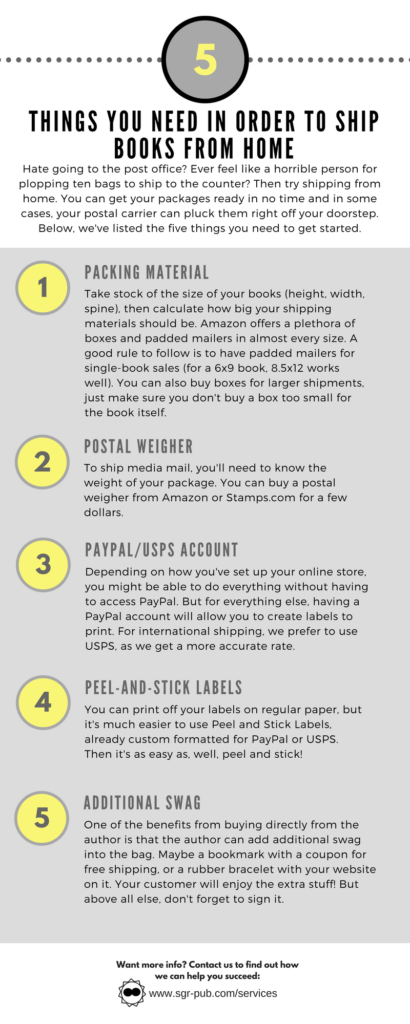 Things you need to know when shipping books from home