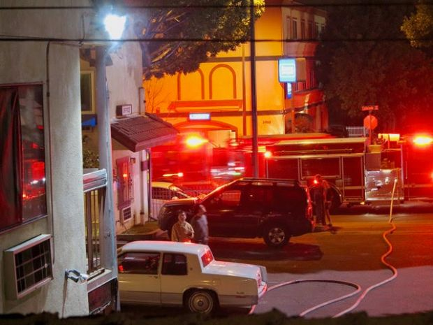 A fire at the Wonder Inn was contained to one room on Feb. 6, 2018, in Pasadena. (Courtesy of Jim Lembeck)