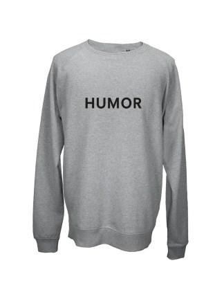 Sweatshirt graa med tryk – humor