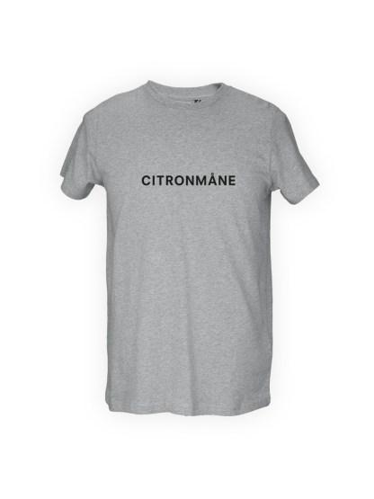 graa herre T-shirt med tryk - CITRONMAANE
