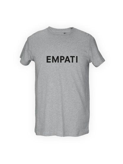 graa herre T-shirt med tryk - empati
