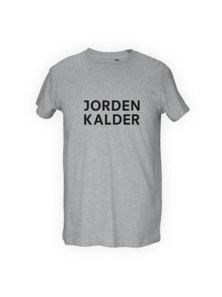 graa herre T-shirt med tryk - jorden kalder