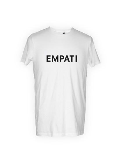hvid herre T-shirt med tryk - empati
