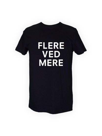 sort herre T-shirt med tryk - FLERE VED MERE
