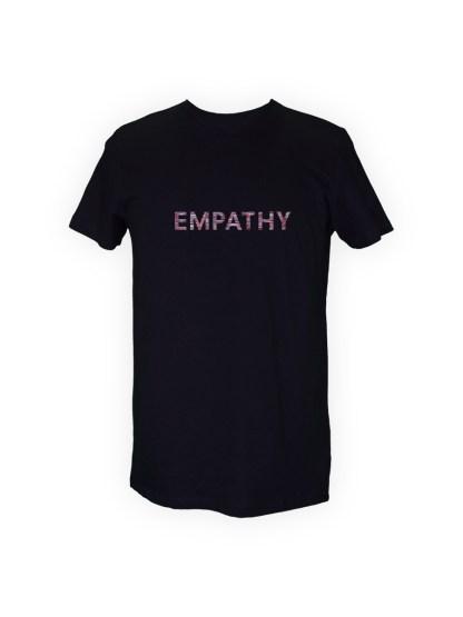 t-shirt-sort-herre-front-roed-empathy