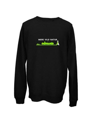 sweatshirt-med-tryk-mere-vild-natur-sort