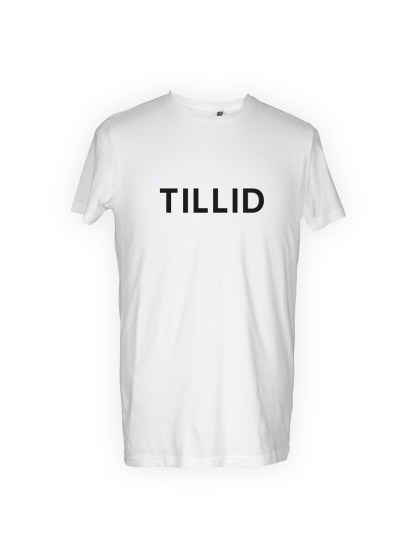 t-shirt-med-tryk-tillid-hvid