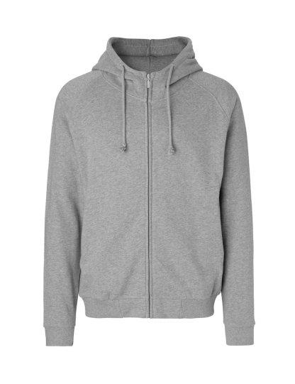 Hoodie m/ zip 1 Neutral hoodie Sport graa