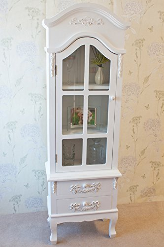 Stunning Casamore White Limoges Antique Style Glass Door