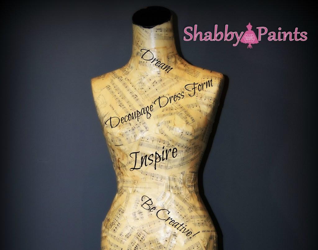 Decoupage Dress Form