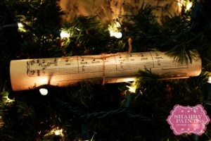 Sheet Music Ornaments Diy homemade