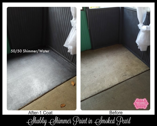 DIY Stained concrete before and after