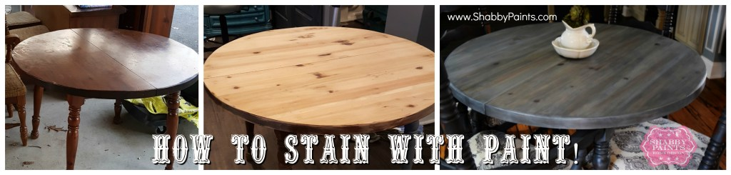 How To Stain with Paint
