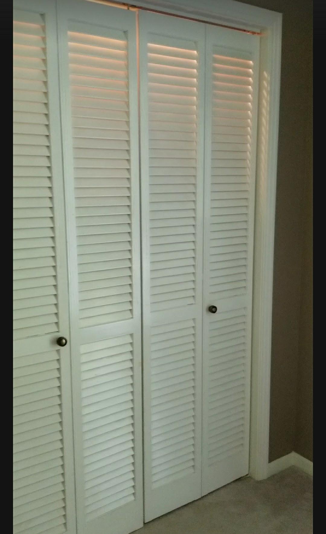 Bye Bye Fold Doors Shiplap Inspired Closet Door Makeover
