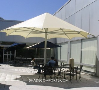 Patio Shade Umbrellas   Commercial NorCal   Giant Permanent Patio Shade Umbrella   San Jose Giant Umbrella
