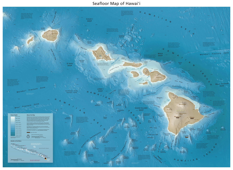 Seafloor Map Of Hawaii