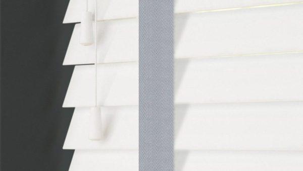 Best Sellers 50mm Faux Wood Venetian Blind Grey Tapes