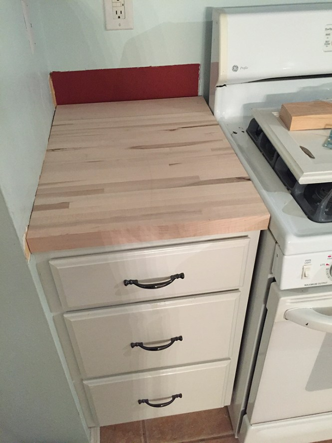 How to install a butcher block countertop bstcountertops for Butcher block installation