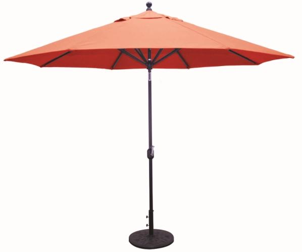 11 sunbrella b aluminum patio umbrella crank lift auto tilt aluminum ribs