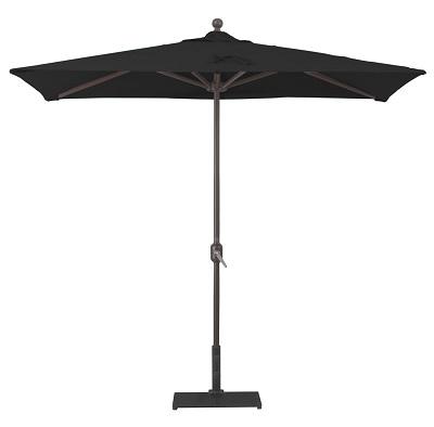 3 5 x 7 sunbrella a half wall aluminum patio umbrella crank lift no tilt aluminum ribs