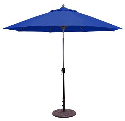 9 sunbrella b aluminum patio umbrella crank lift auto tilt fiberglass ribs