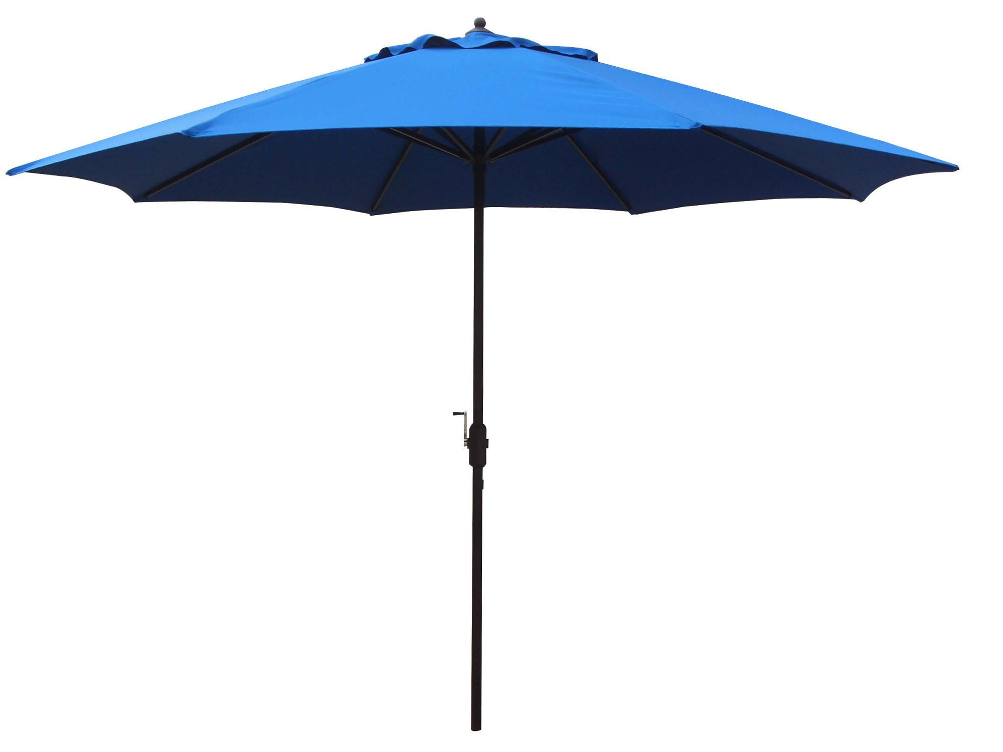 11 foot aluminum patio umbrella crank lift no tilt aluminum ribs