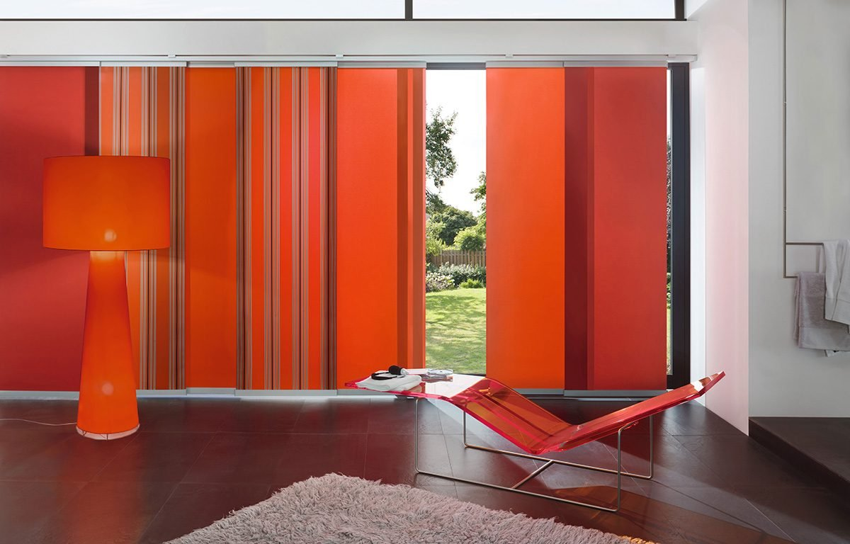 Orange Sliding Panels