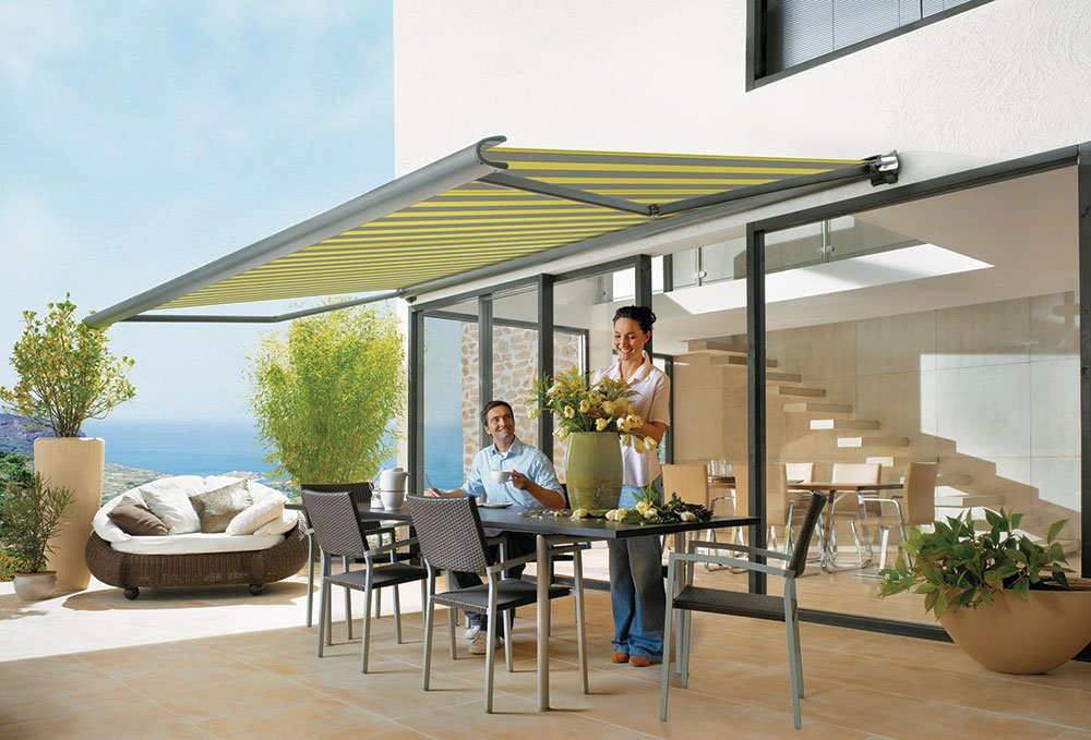 Green Markilux Awnings