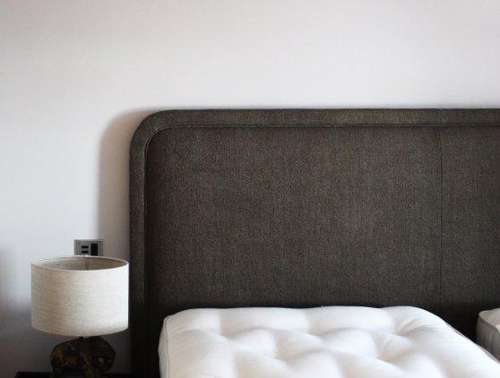 Bespoke upholstered headboard
