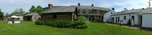 Panorama of the Compass Inn Museum grounds