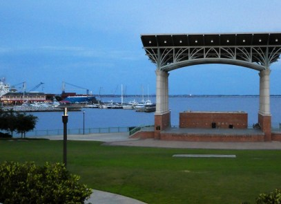 Stadium is right on Pensacola Bay