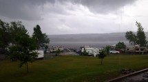 Even during the storms our view was spectacular