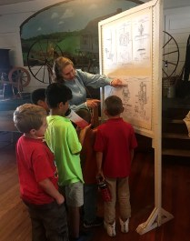 The kids were fascinated by Maddie's inventions