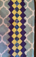 Sew strips into desired pattern