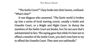 Magnus spiega la differenza tra Corte Seelie e Corte Unseelie